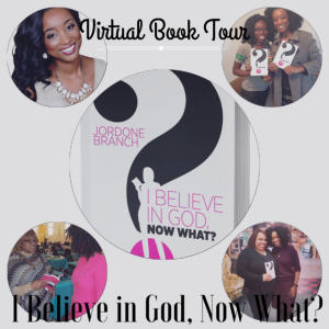 The I Believe in God, Now What? virtual book tour is giving away a FREE book! Simply share this post on social media, share why you're excited to read this book, and be sure to tag @Jordonewrites to be entered to win. Read the FREE book sample by clicking here.
